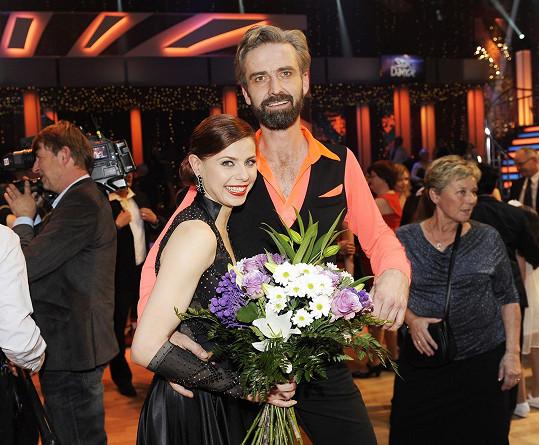 Roman po vyřazení ze StarDance s taneční partnerkou Andreou Třeštikovou