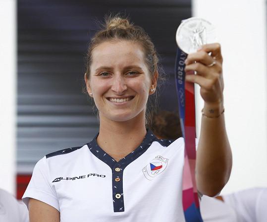 Markéta Vondroušová získala na olympiádě v Tokiu stříbrnou medaili.