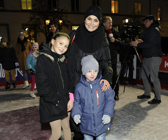 Vlaďka se synem Marcusem a dcerou Viktorkou