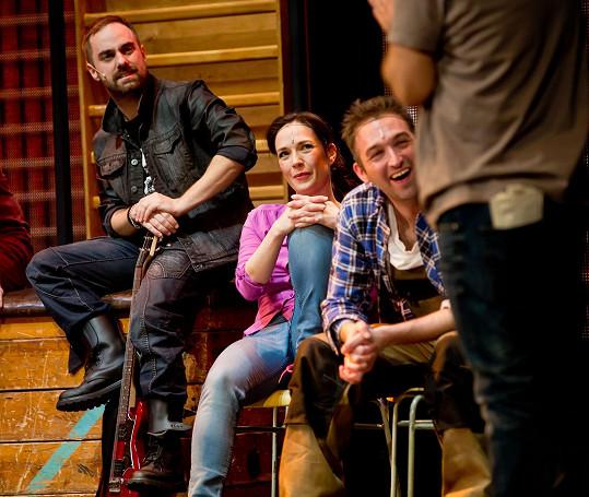 Tereza Kostková při jedné ze scén