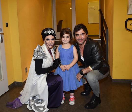 Sagvan Tofi s dcerou a zpěvačkou Míšou Noskovou.