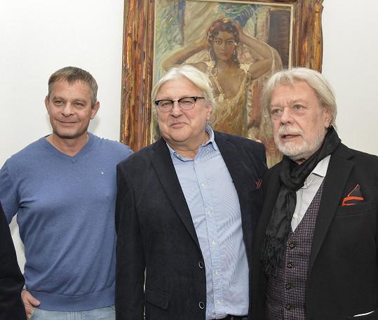 Richard Bergman s kmotry Filipem Renčem a Janem Kanyzou