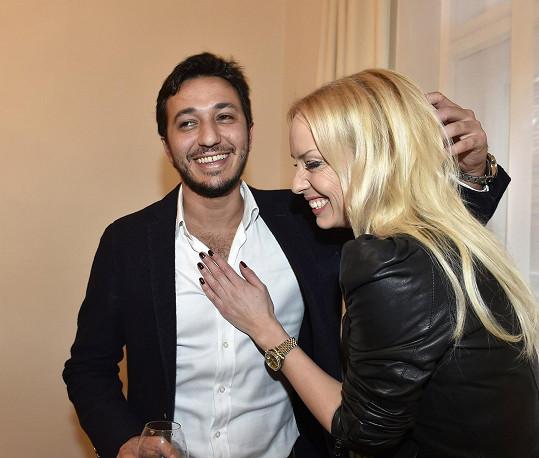 Mátlová se svým bývalým přítelem Yohannem Ginem