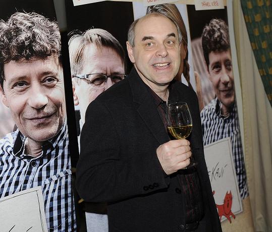Miroslav Táborský na premiéře filmu Jak básníci čekají na zázrak