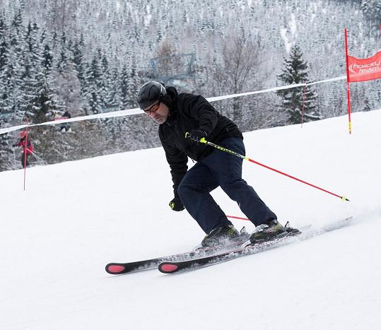 Jan Kalousek na lyžích