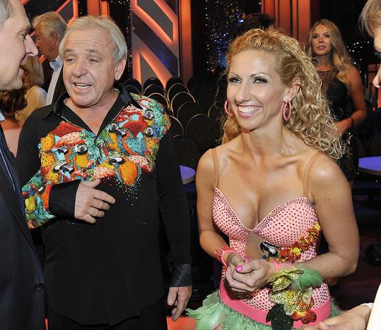 Ladislav Vízek s tanečnicí Evou Krejčířovou