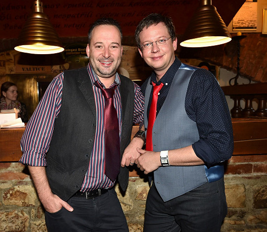 Aleš Cibulka s partnerem Michalem Jagelkou