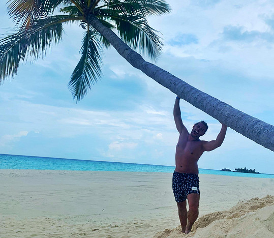 Jan Kopečný tráví dovolenou na Maledivách.