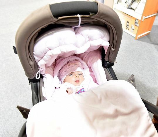 Malá Terezka, když jí byly dva měsíce.