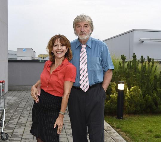 Míša s kolegou Vladimírem Kratinou