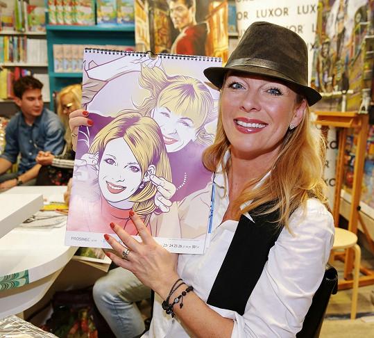 Lucie Benešová byla se svou komiksovou podobou také spokojená.