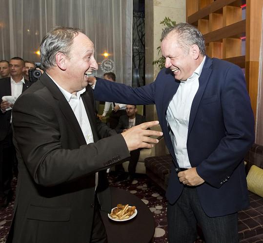 Slovenský prezident ale přeřek českému moderátorovi neměl za zlé.