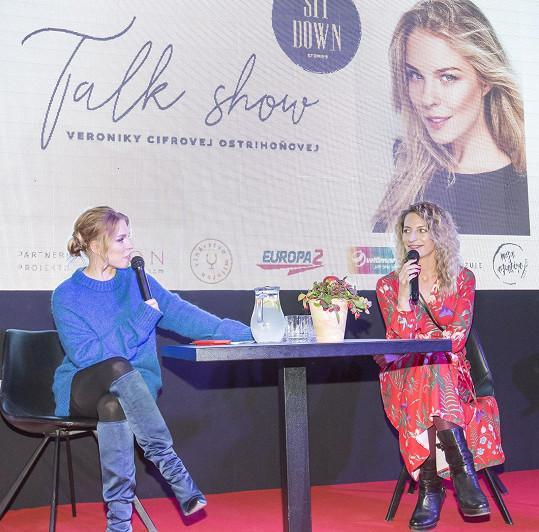 Byla hostem slovenské talk show.