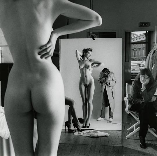 Helmut Newton v akci.