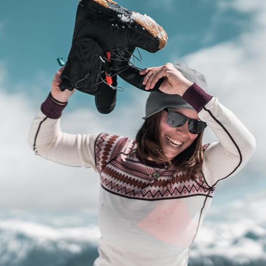 Natáčení pořadu Alpami nejen za sněhem snowboardistku velmi bavilo.