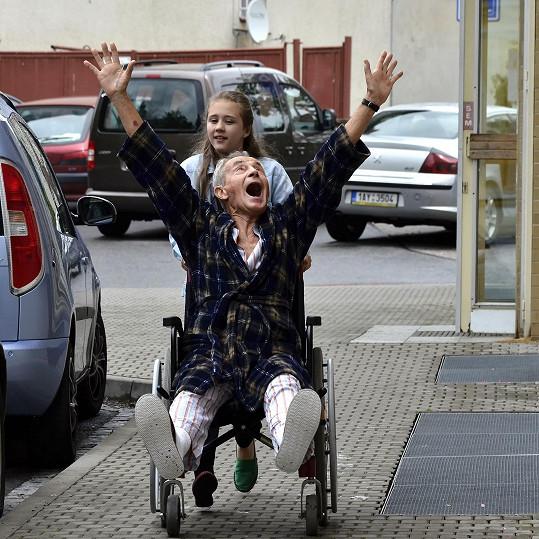 Jan Tříska si zařádil i na vozíku.