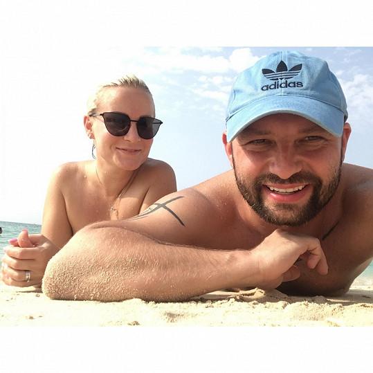 Marek Dědík si užívá na dovolené.