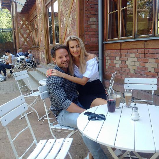Sandra Parmová s přítelem Pavlem