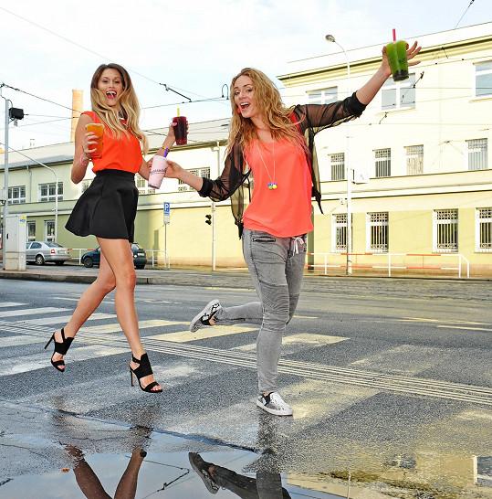 Štoudková s Moravcovou jsou nejlepší kamarádky.