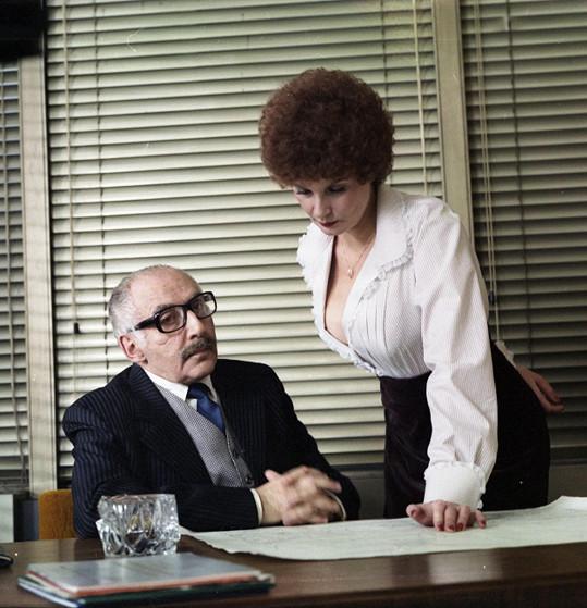 S Milošem Kopeckým v komedii Křtiny (1981)