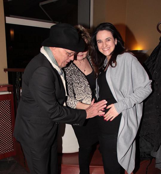 S babičkou a dědou Janem Přeučilem a Evou Hruškovou