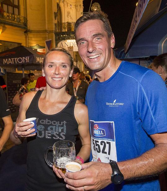 Manželé po závodu na deset kilometrů