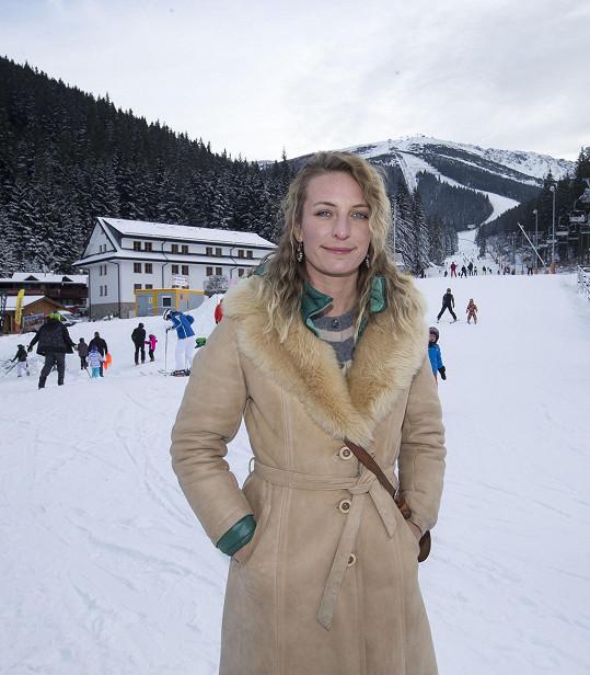 Anna Polívková už týden natáčí v Nízkých Tatrách.