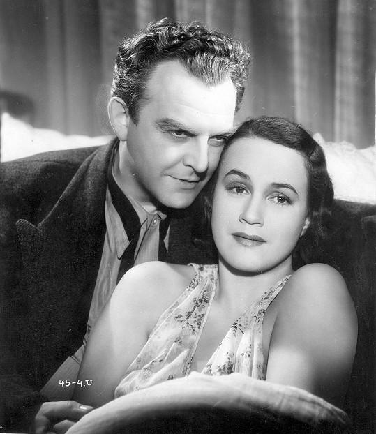 S Adinou Mandlovou se potkával často. Tady jsou ve filmu Nevinná (1939).