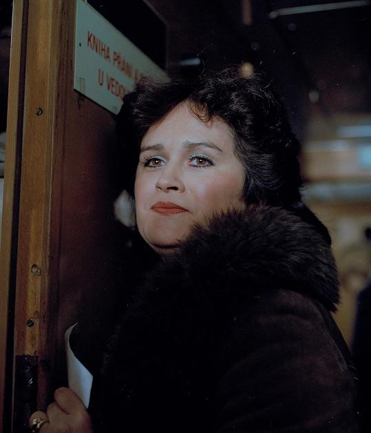 Hana Gregorová v televizním filmu Tento večer v tomto vlaku (1984)