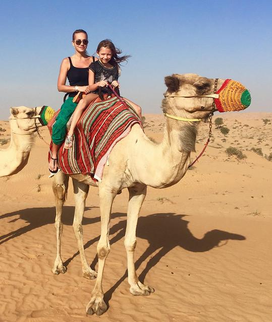Výlet do pouště do stanu beduínů