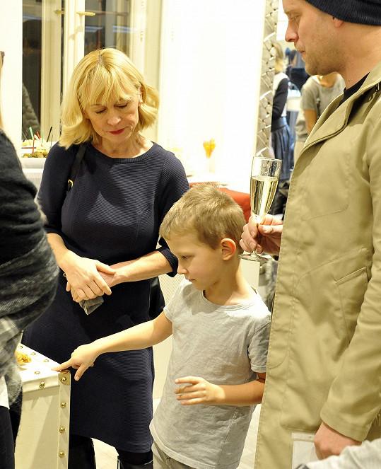 S maminkou a manželčiným synem Kryšpínem