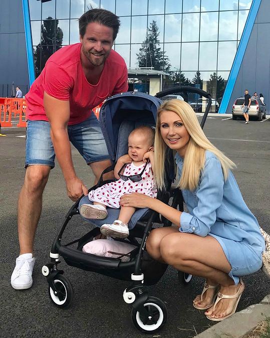 Sandra s partnerem Pavlem a dcerou