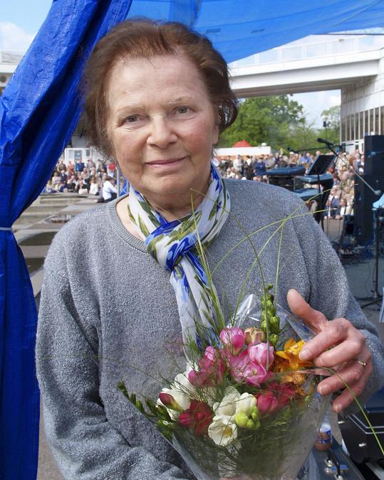 Herečka v roce 2008 na prvomájové oslavě KSČM