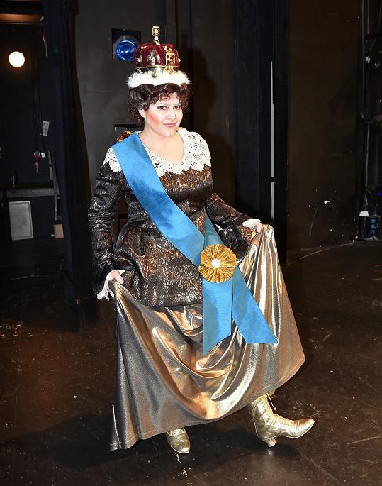 Ilona jako královna Viktorie