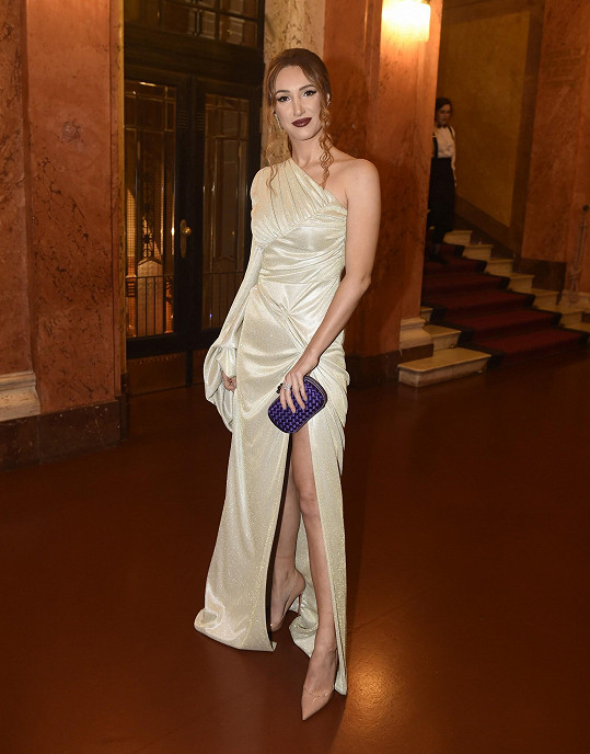 Ředitelka soutěže Miss Czech Repulic Taťána Makarenko vložila svůj model do rukou stylisty Sama Dolceho, který tyto šaty sám navrhl. Diamanty jsou od Gismondi.