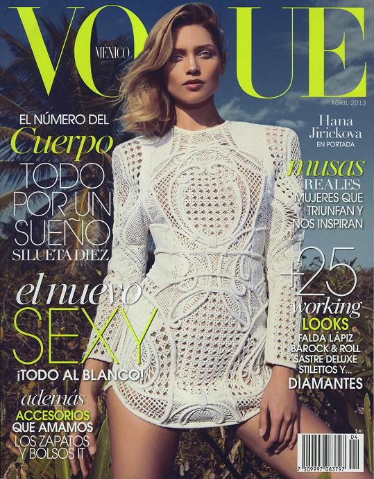 Vítězka Elite Model Look Czech Republic 2007 na obálce mexické mutace magazínu Vogue