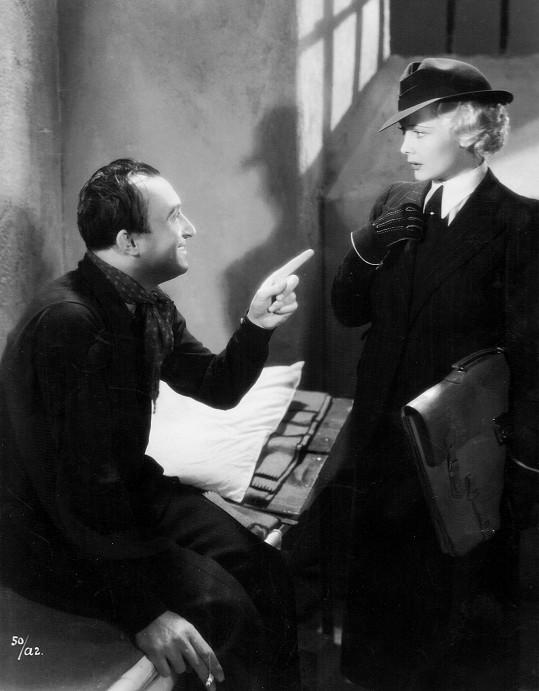 Truda ve svém nejslavnějším filmu Advokátka Věra (1937) s Oldřichem Novým