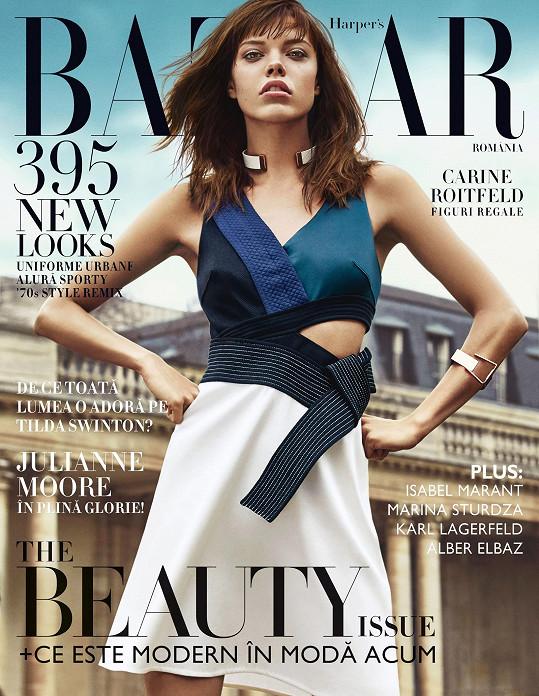 Je i úspěšnou modelkou. Evina titulní stránka v Rumunsku...