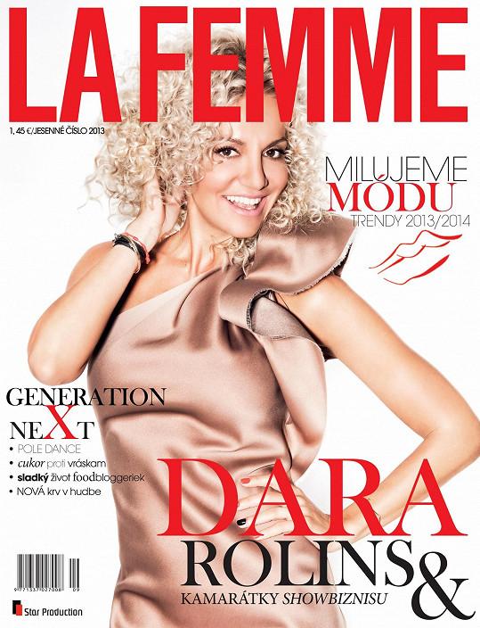 Dara v předloňském čísle podzimního čísla slovenského magazínu La Femme