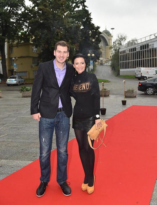 Gábina Partyšová s kolegou Petrem