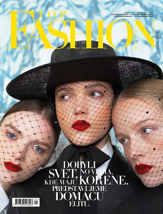 Na obálce aktuálního čísla magazínu Top Fashion