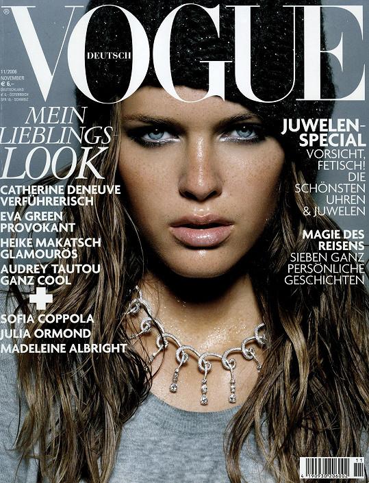 Michaela se dostala i na titulku časopisu Vogue.