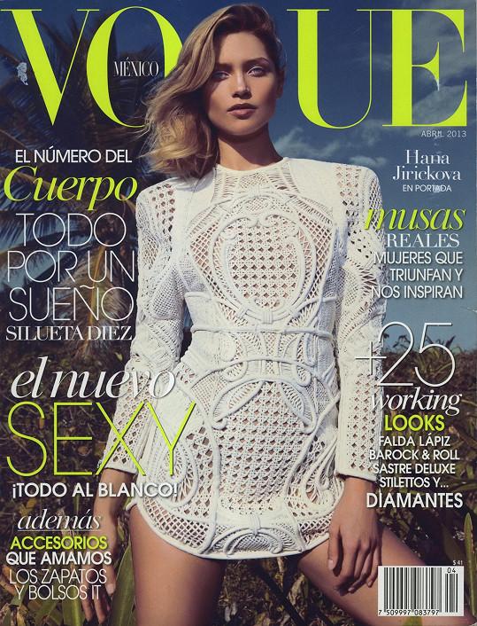 Jiříčková na obálce mexické mutace magazínu Vogue