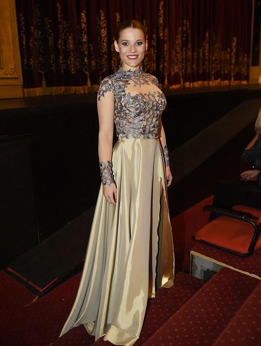 Michaela Gemrotová na premiéře Fantoma opery