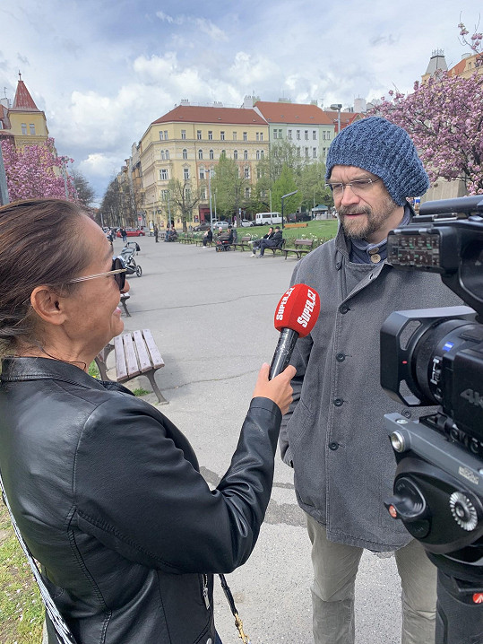 Bárta při rozhovoru se Super.cz