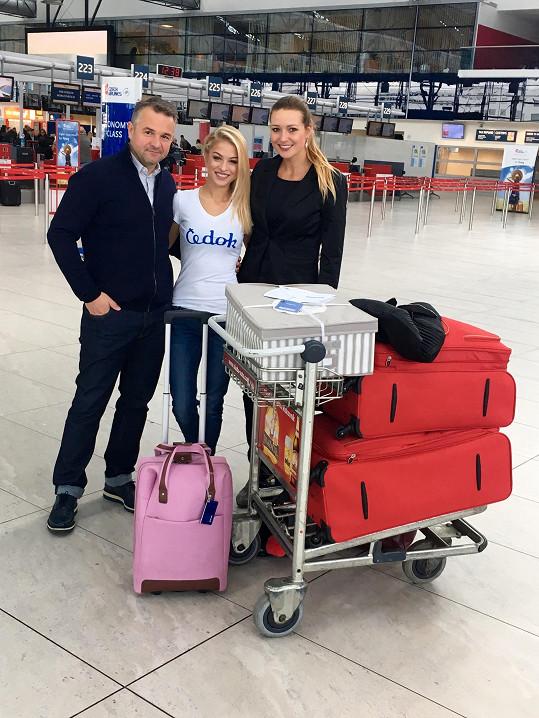 S Kristýnou se přišla rozloučit Eva Čerešňáková a Martin Ditmar.
