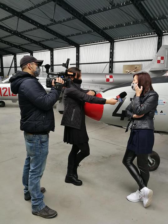 Beata Rajská během rozhovoru