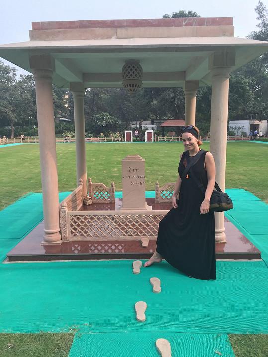 Poslední kroky a pomník Gándhího