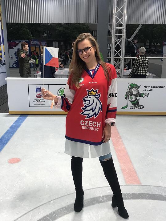 Inna vyrazila do Bratislavy na hokej.