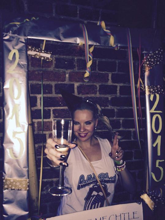 Nový rok pak Kristelová přivítala i v pražském baru.